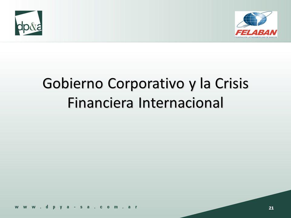 Gobierno Corporativo y la Crisis Financiera Internacional