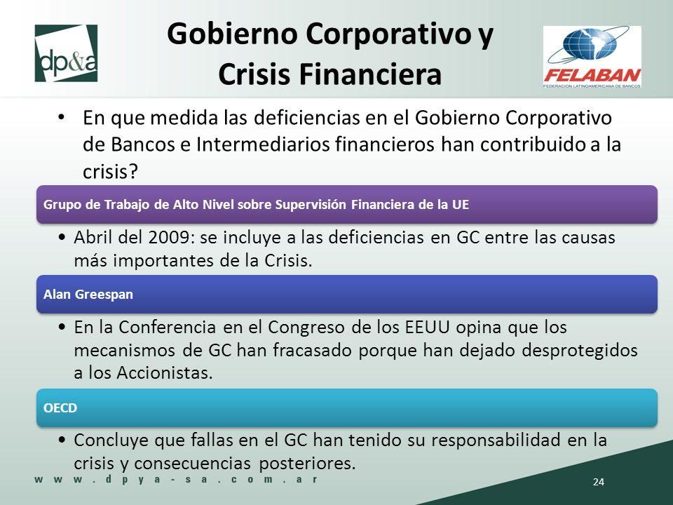 Gobierno Corporativo y Crisis Financiera