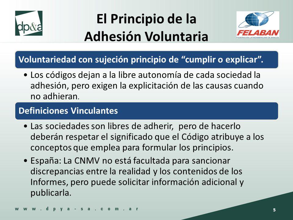 El Principio de la Adhesión Voluntaria