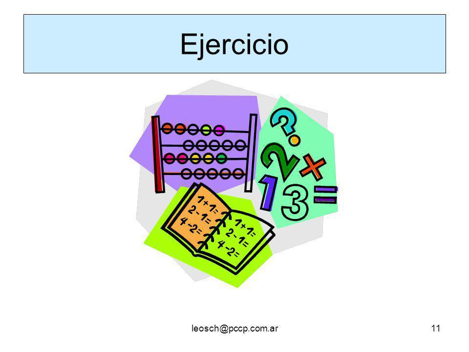 Ejercicio leosch@pccp.com.ar