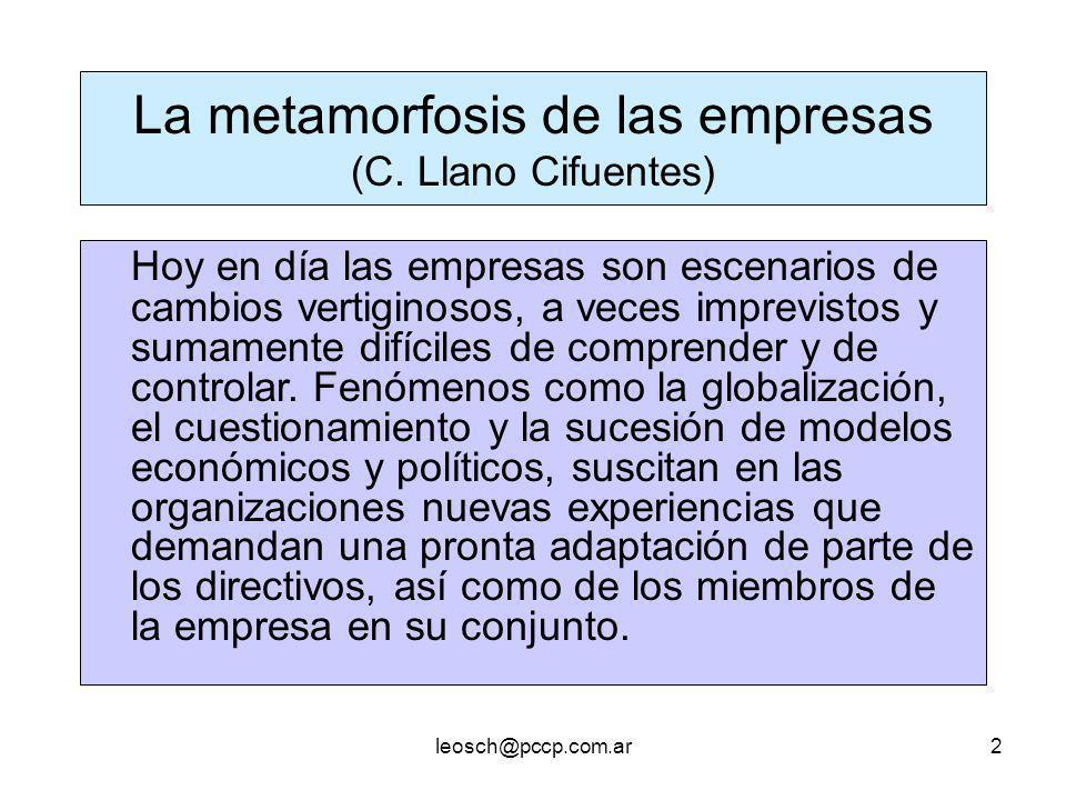 La metamorfosis de las empresas (C. Llano Cifuentes)