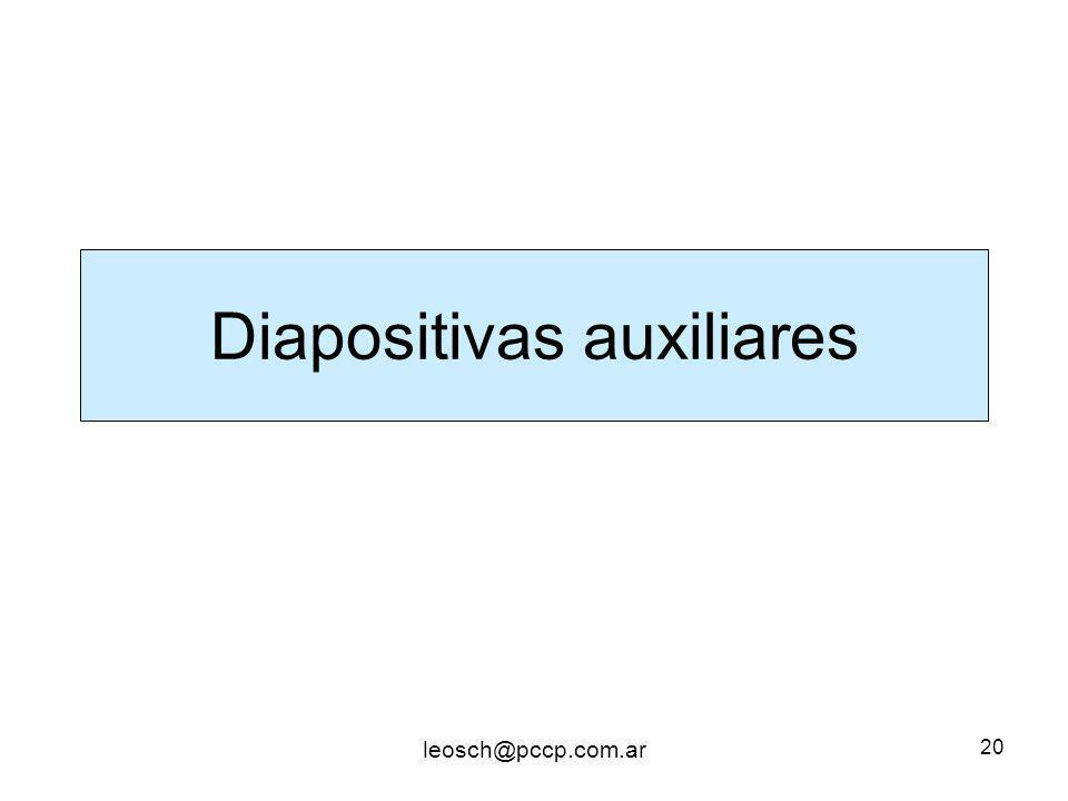 Diapositivas auxiliares