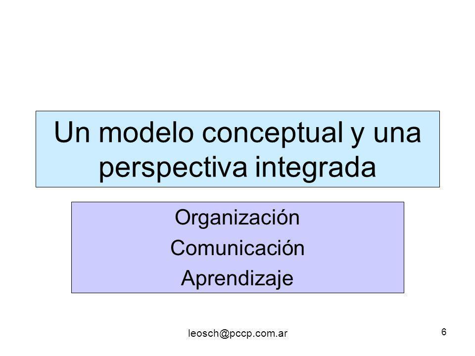 Un modelo conceptual y una perspectiva integrada