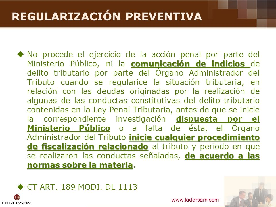 REGULARIZACIÓN PREVENTIVA