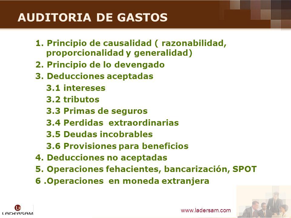 AUDITORIA DE GASTOS