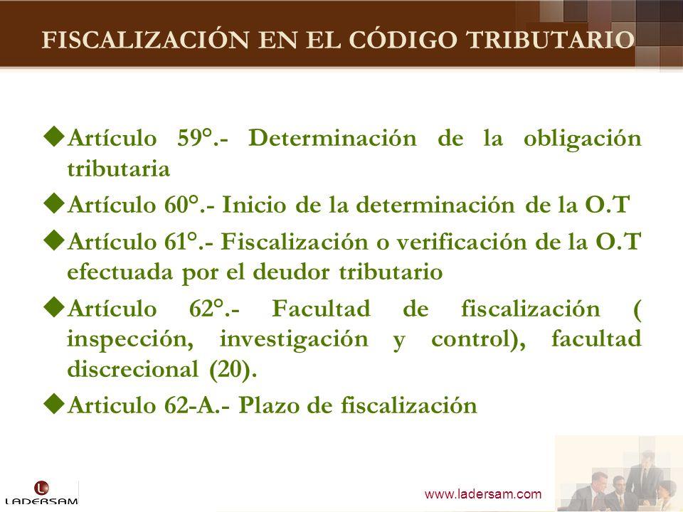 FISCALIZACIÓN EN EL CÓDIGO TRIBUTARIO