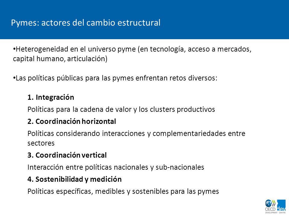Pymes: actores del cambio estructural