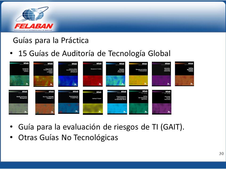 15 Guías de Auditoría de Tecnología Global