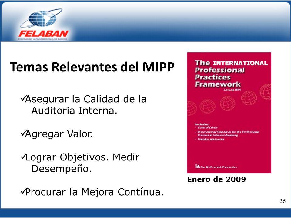 Temas Relevantes del MIPP