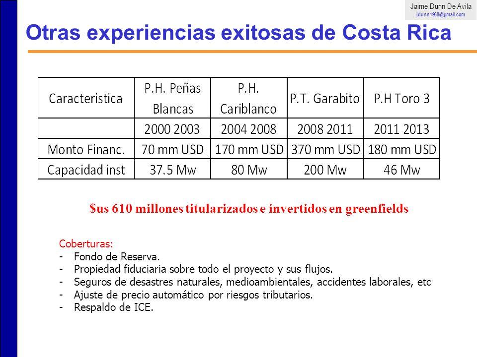 Otras experiencias exitosas de Costa Rica