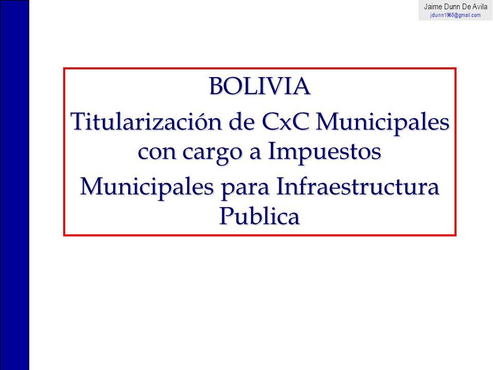 Titularización de CxC Municipales con cargo a Impuestos
