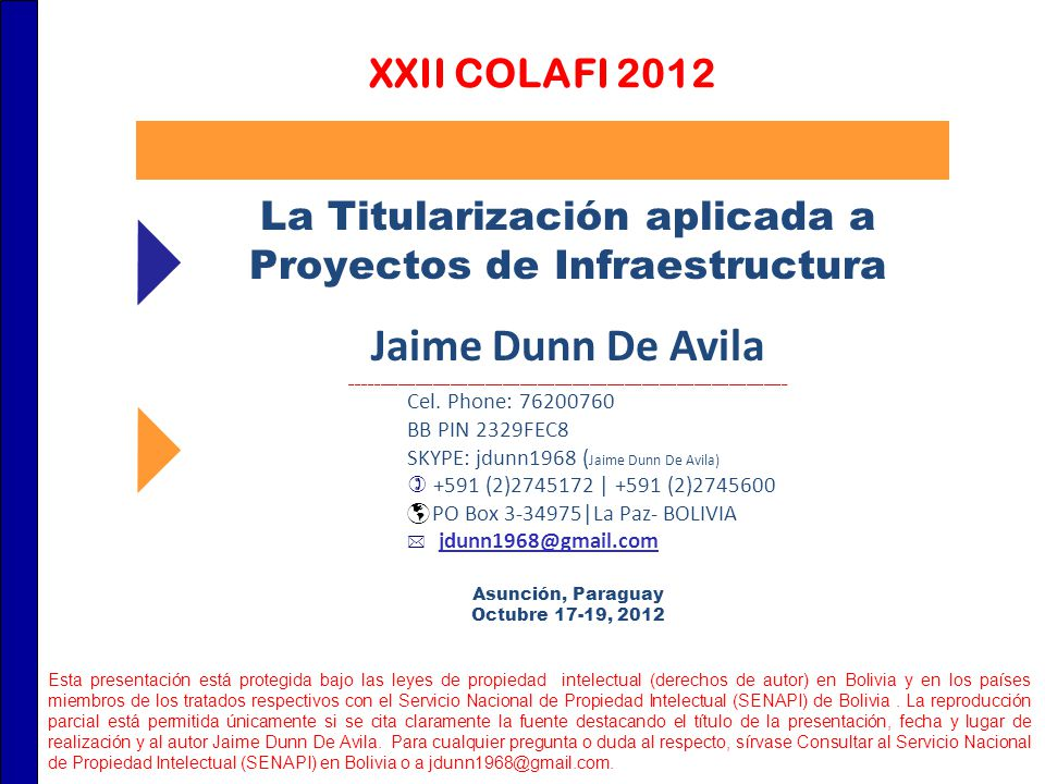 La Titularización aplicada a Proyectos de Infraestructura