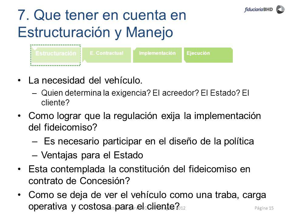 7. Que tener en cuenta en Estructuración y Manejo