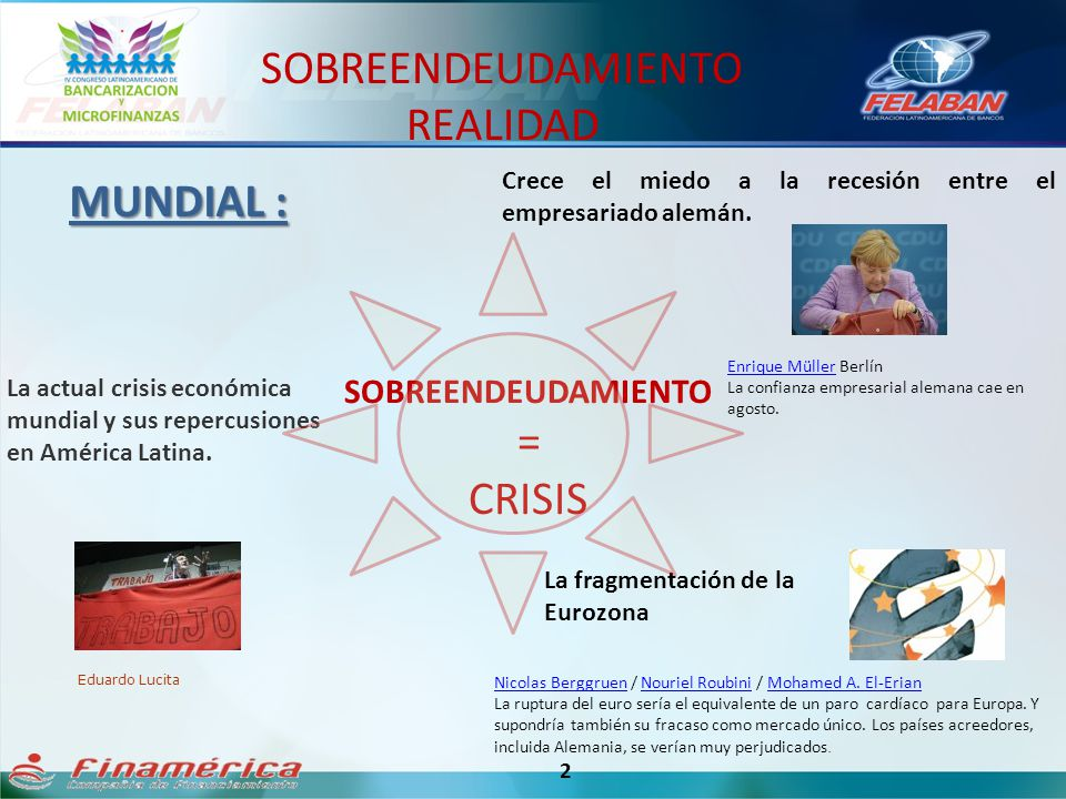 SOBREENDEUDAMIENTO REALIDAD MUNDIAL : = CRISIS SOBREENDEUDAMIENTO