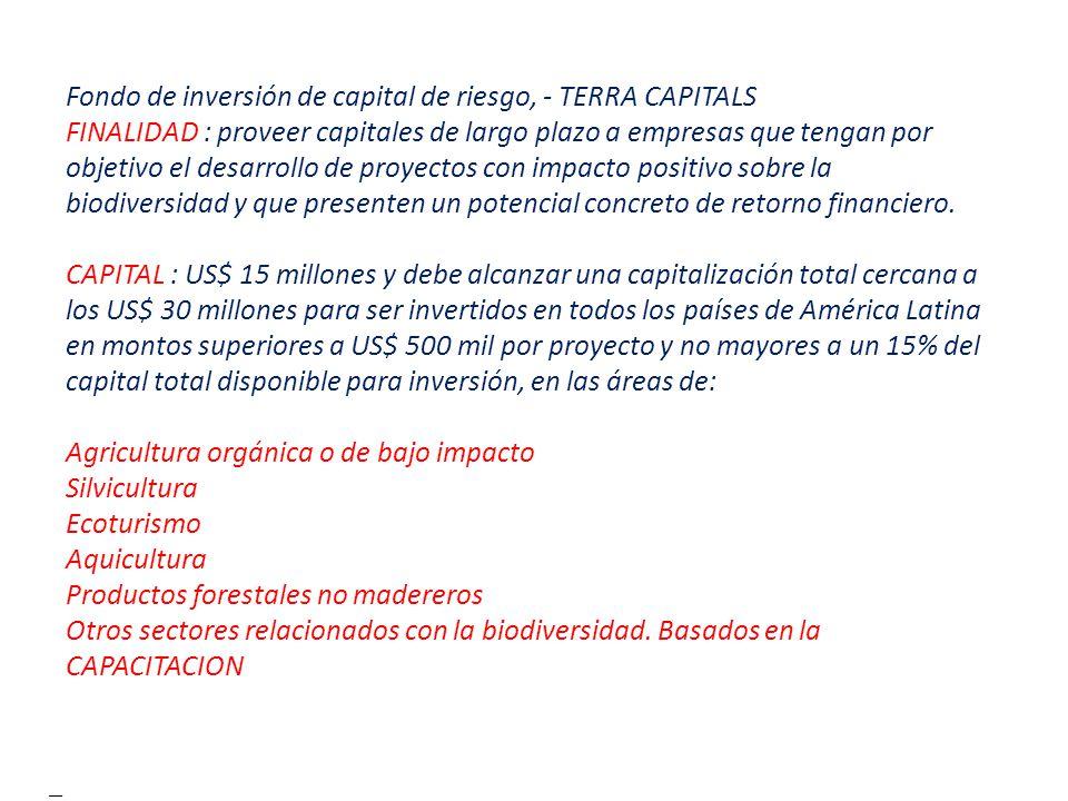 Fondo de inversión de capital de riesgo, - TERRA CAPITALS