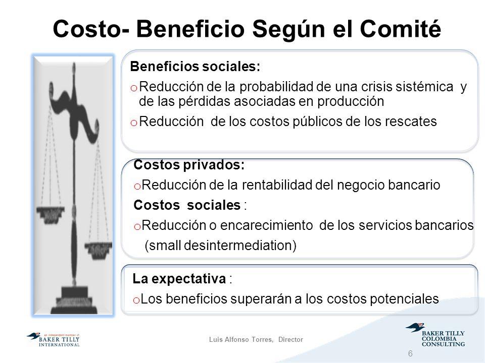 Costo- Beneficio Según el Comité
