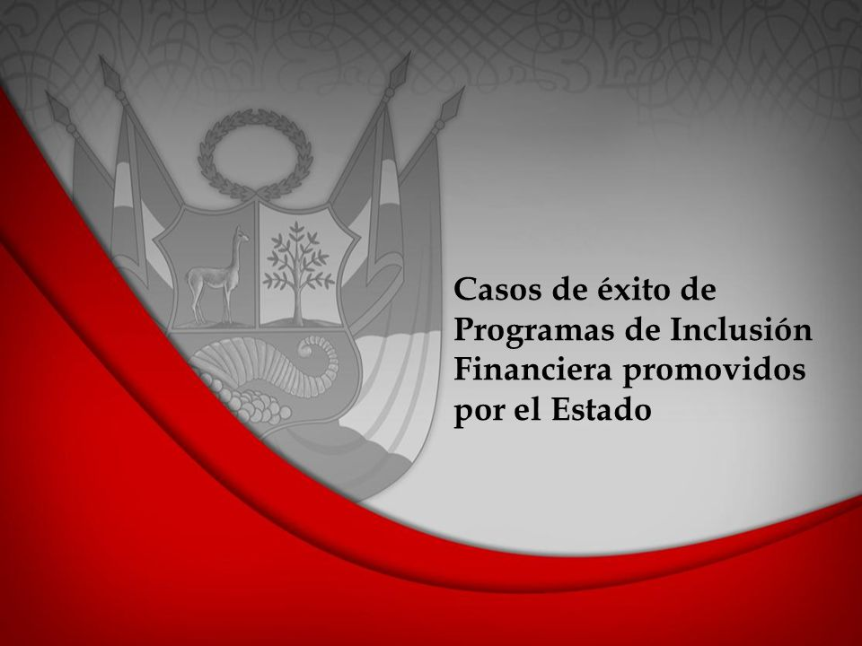 Casos de éxito de Programas de Inclusión Financiera promovidos por el Estado