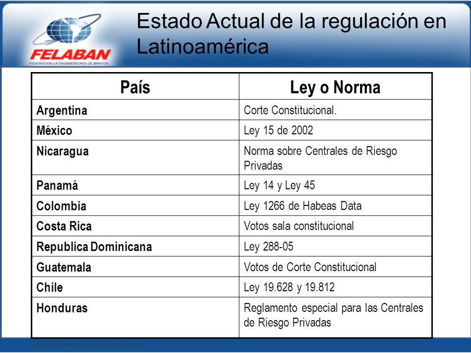 Estado Actual de la regulación en Latinoamérica