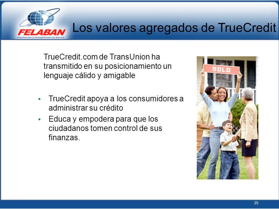 Los valores agregados de TrueCredit