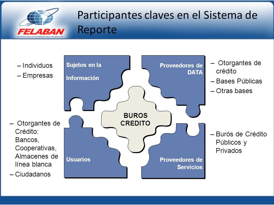 Participantes claves en el Sistema de Reporte