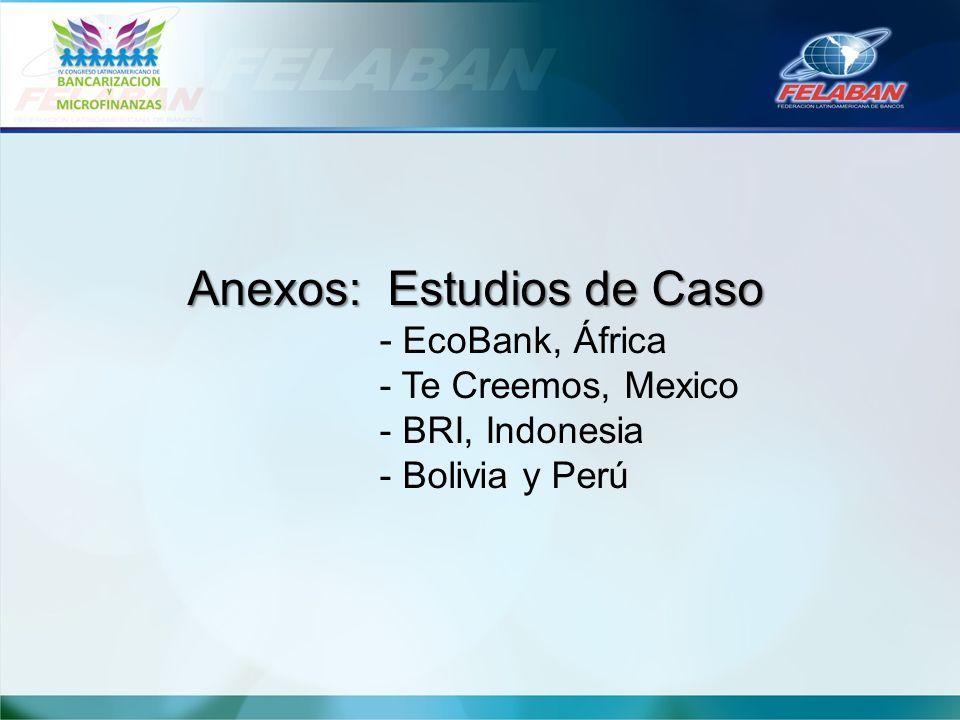 Anexos: Estudios de Caso. - EcoBank, África. - Te Creemos, Mexico