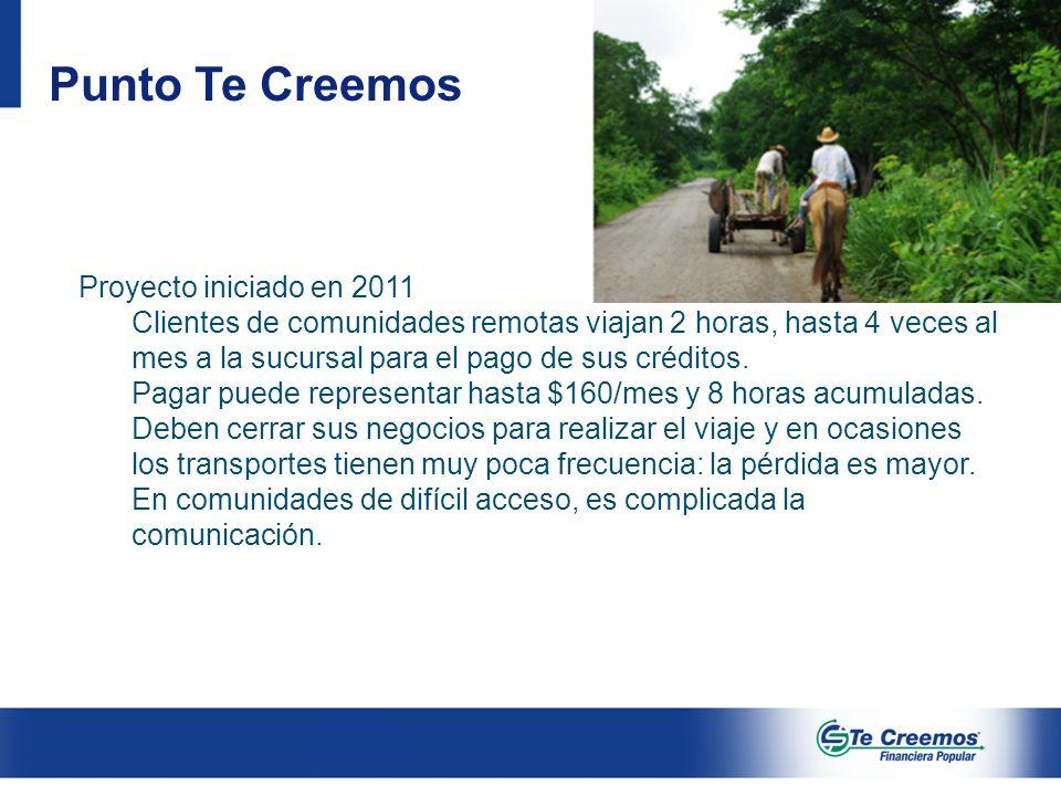 Punto Te Creemos Proyecto iniciado en 2011
