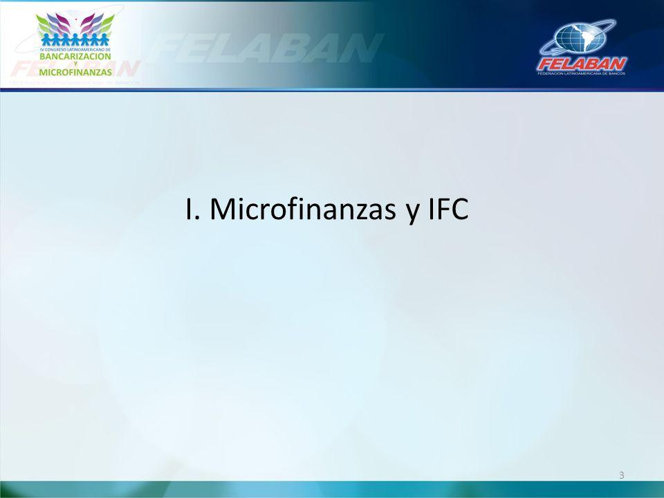 I. Microfinanzas y IFC