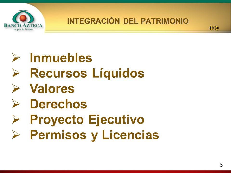 INTEGRACIÓN DEL PATRIMONIO