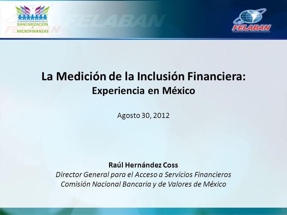 La Medición de la Inclusión Financiera: