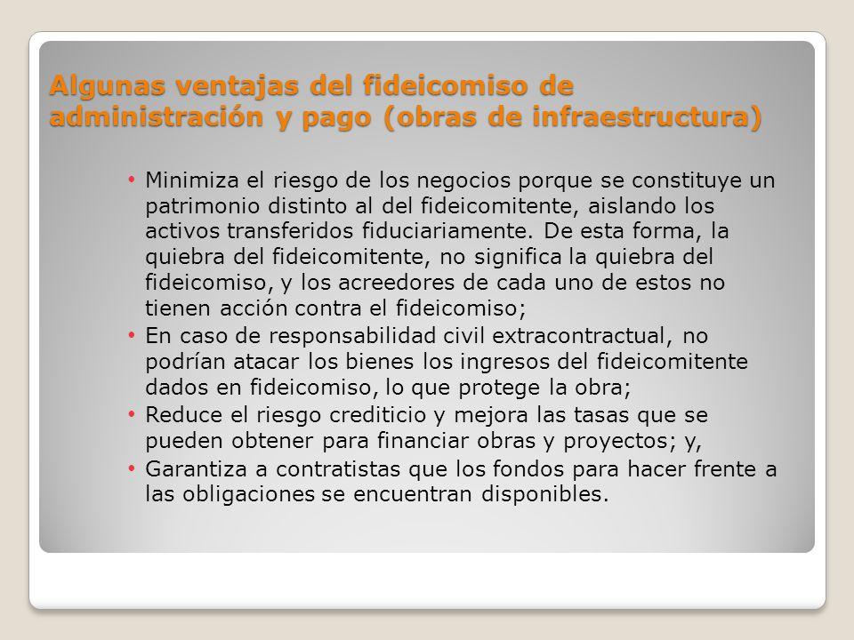 Algunas ventajas del fideicomiso de administración y pago (obras de infraestructura)