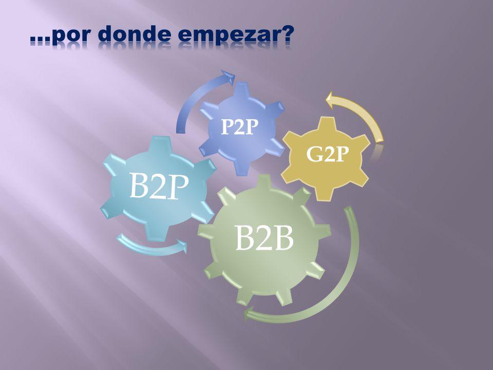 …por donde empezar B2B B2P P2P G2P