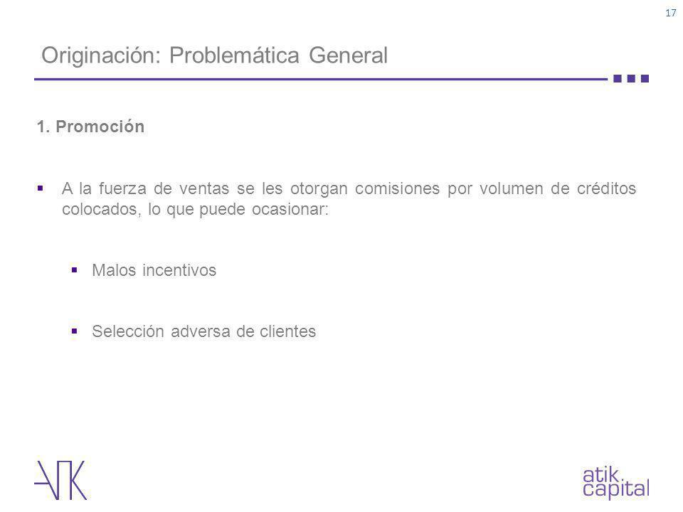 Originación: Problemática General