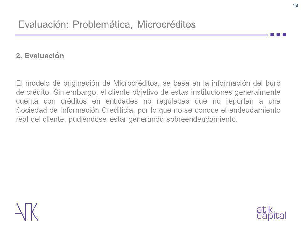 Evaluación: Problemática, Microcréditos