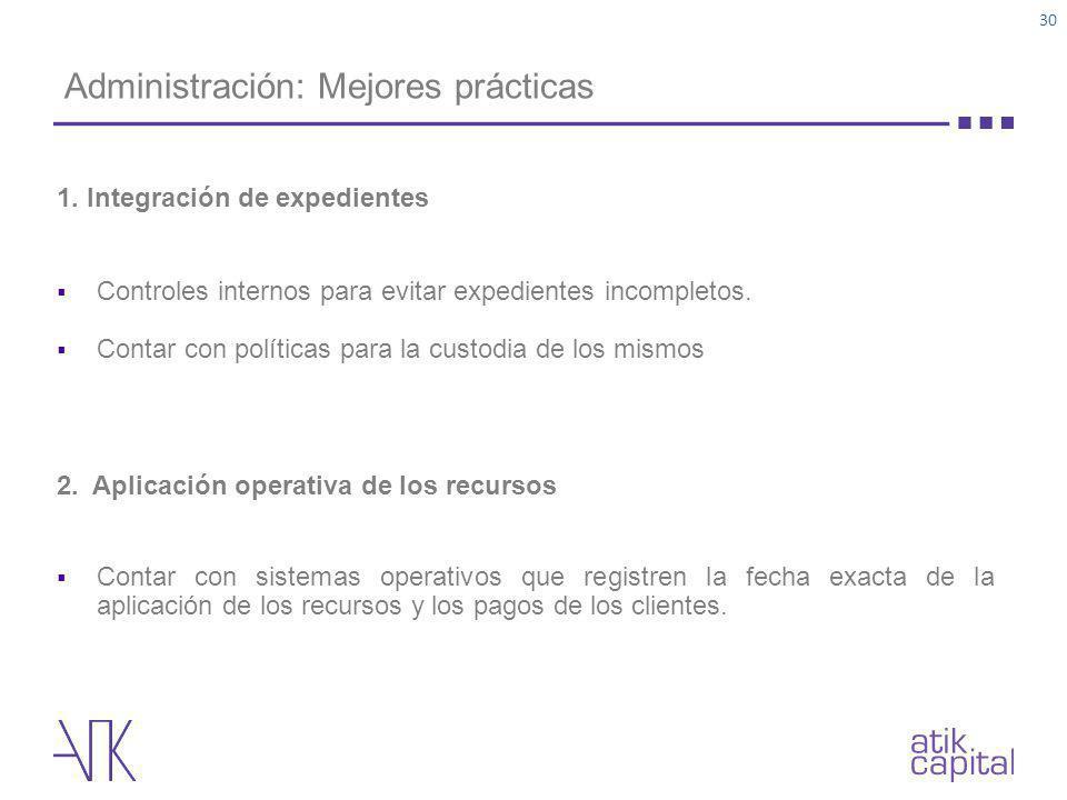 Administración: Mejores prácticas