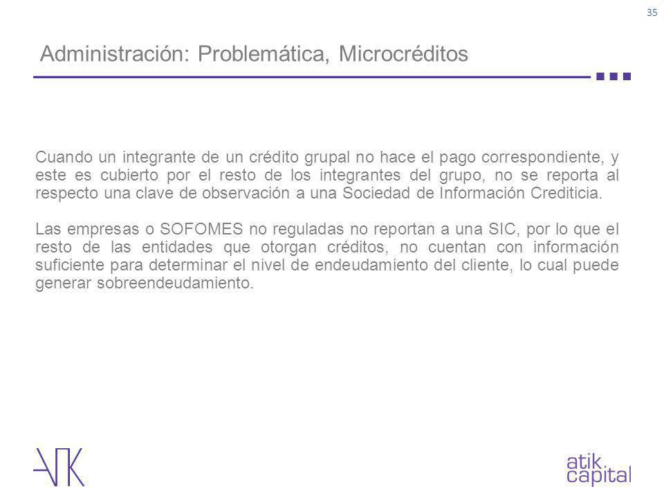 Administración: Problemática, Microcréditos