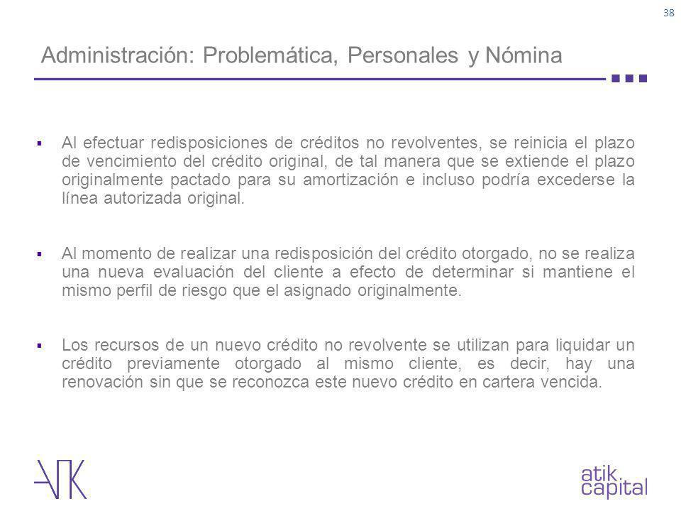 Administración: Problemática, Personales y Nómina
