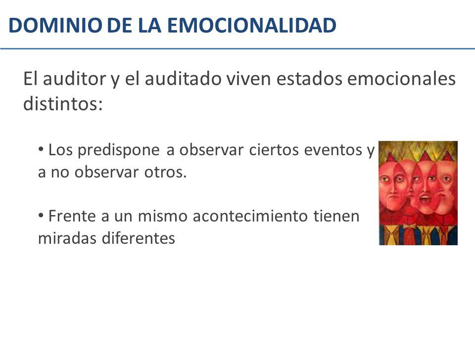 DOMINIO DE LA EMOCIONALIDAD
