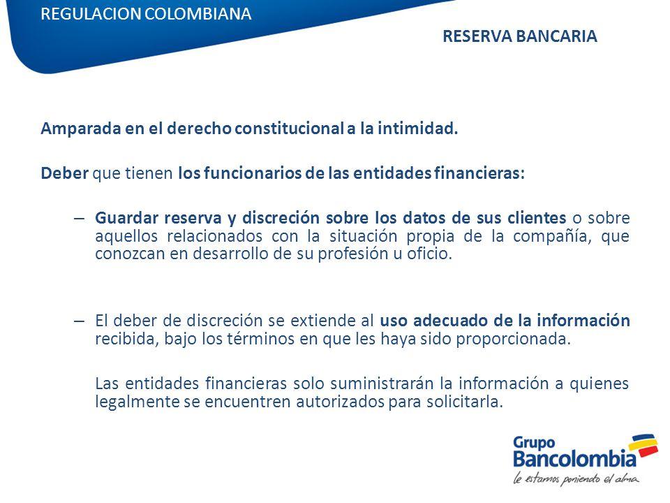 REGULACION COLOMBIANA RESERVA BANCARIA