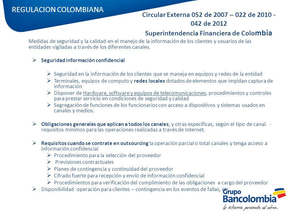 REGULACION COLOMBIANA