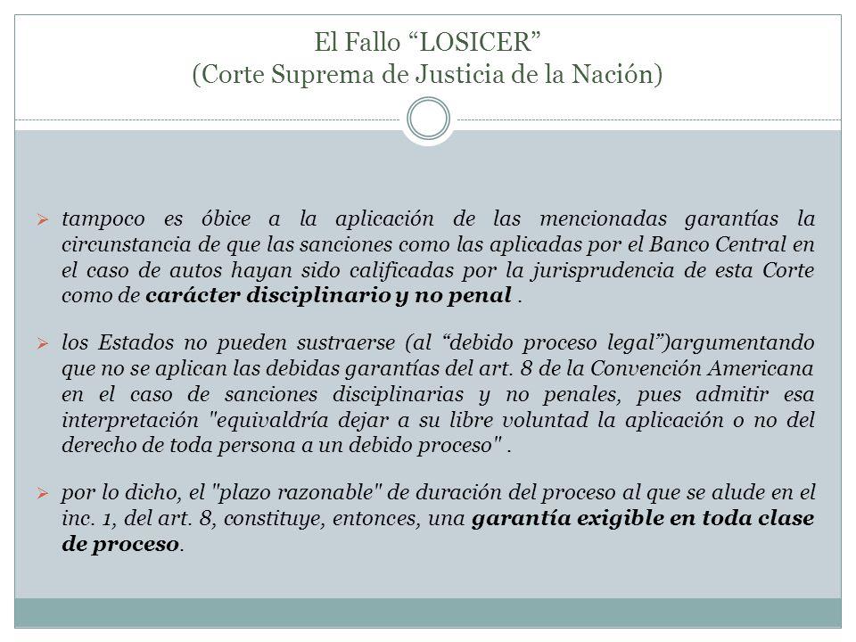 El Fallo LOSICER (Corte Suprema de Justicia de la Nación)