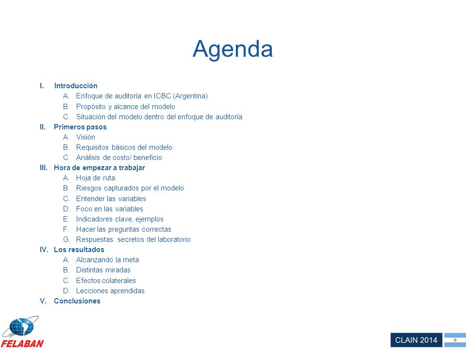 Agenda Introducción Enfoque de auditoría en ICBC (Argentina)