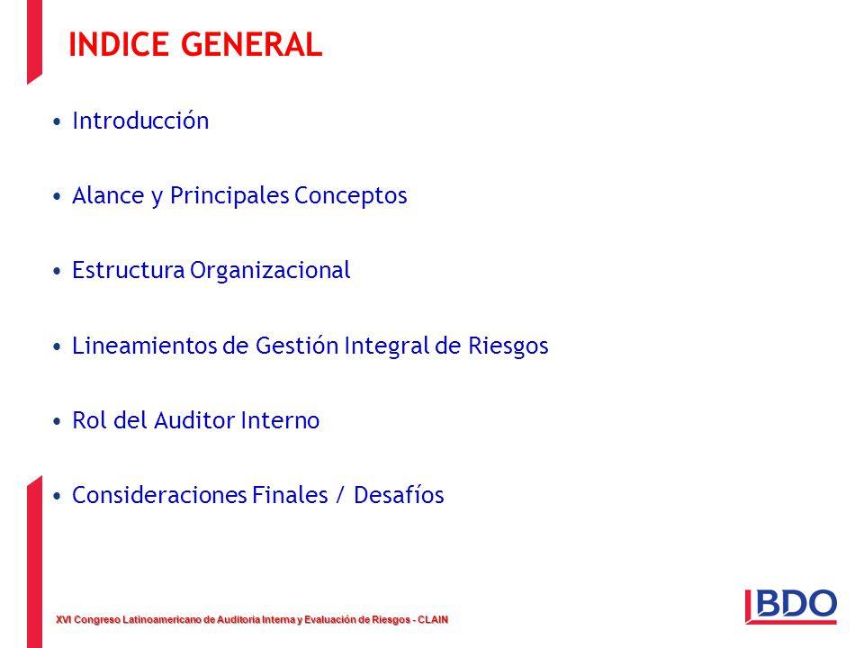 INDICE GENERAL Introducción Alance y Principales Conceptos