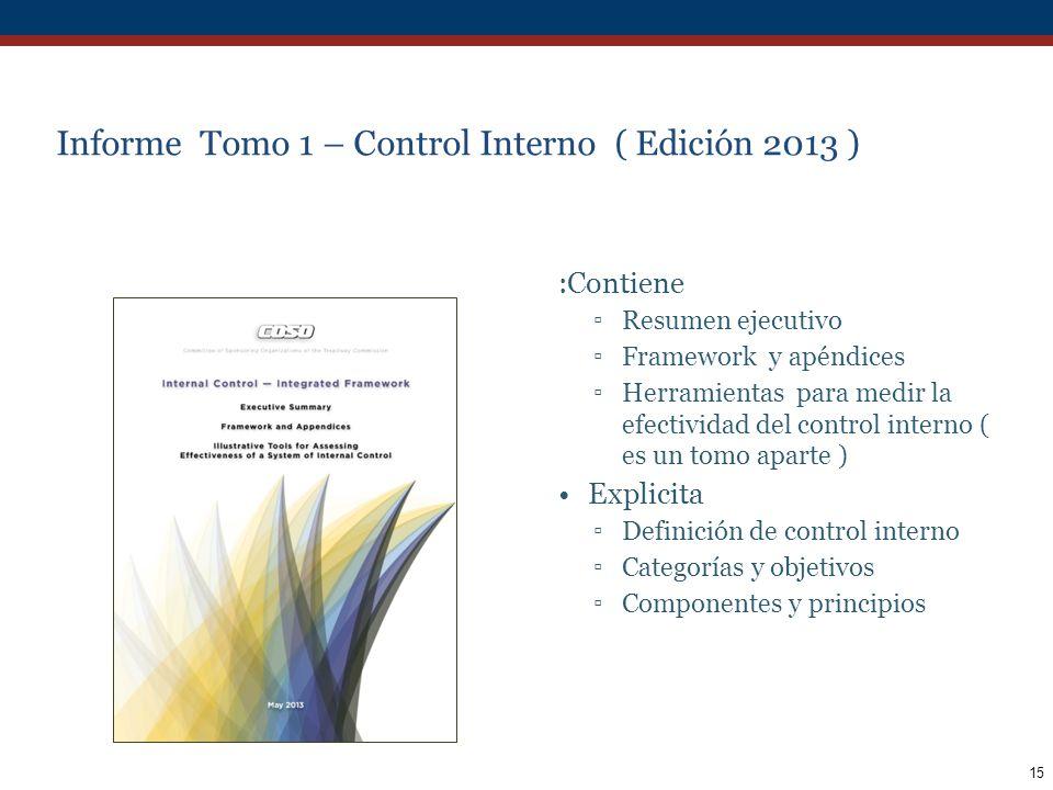 Informe Tomo 1 – Control Interno ( Edición 2013 )