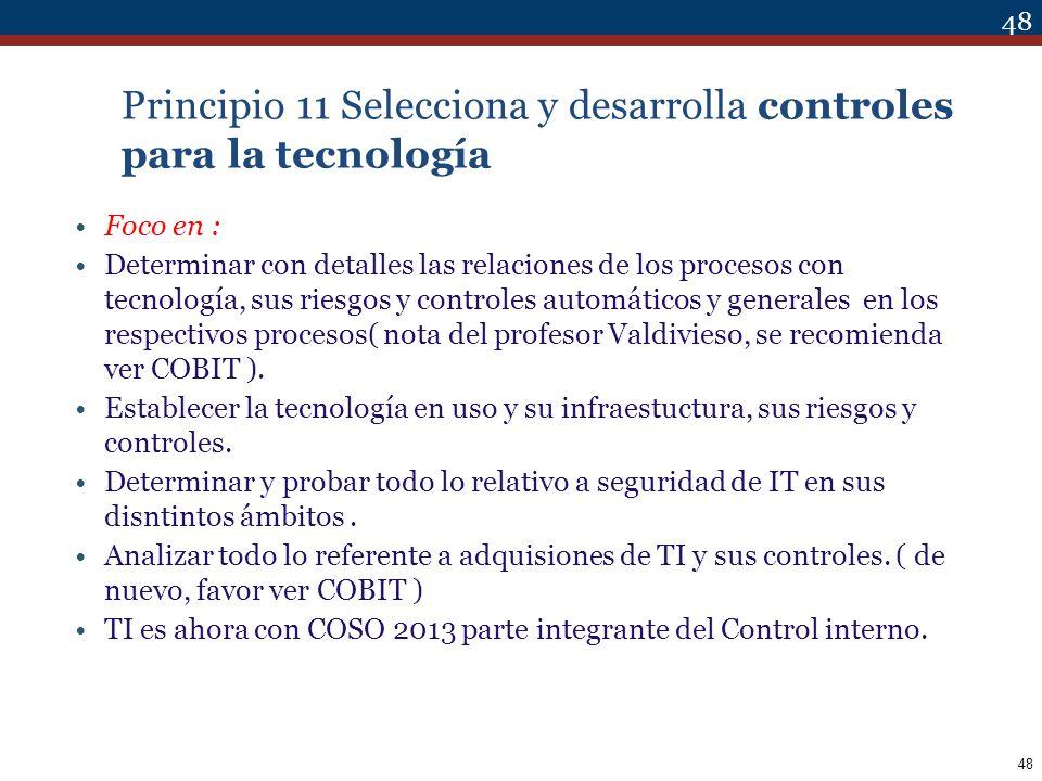 Principio 11 Selecciona y desarrolla controles para la tecnología