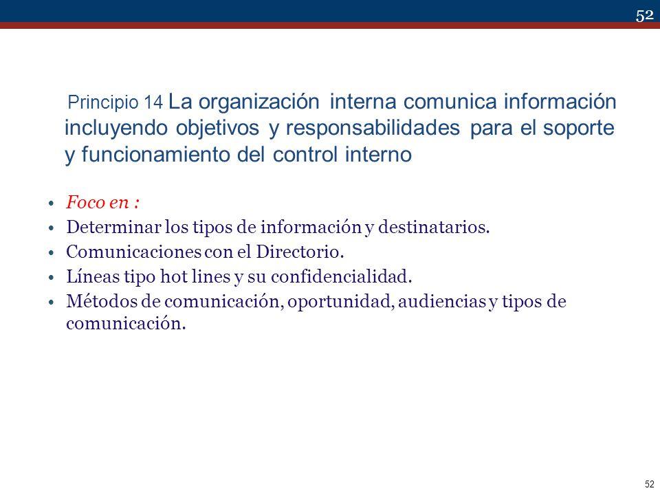 Determinar los tipos de información y destinatarios.