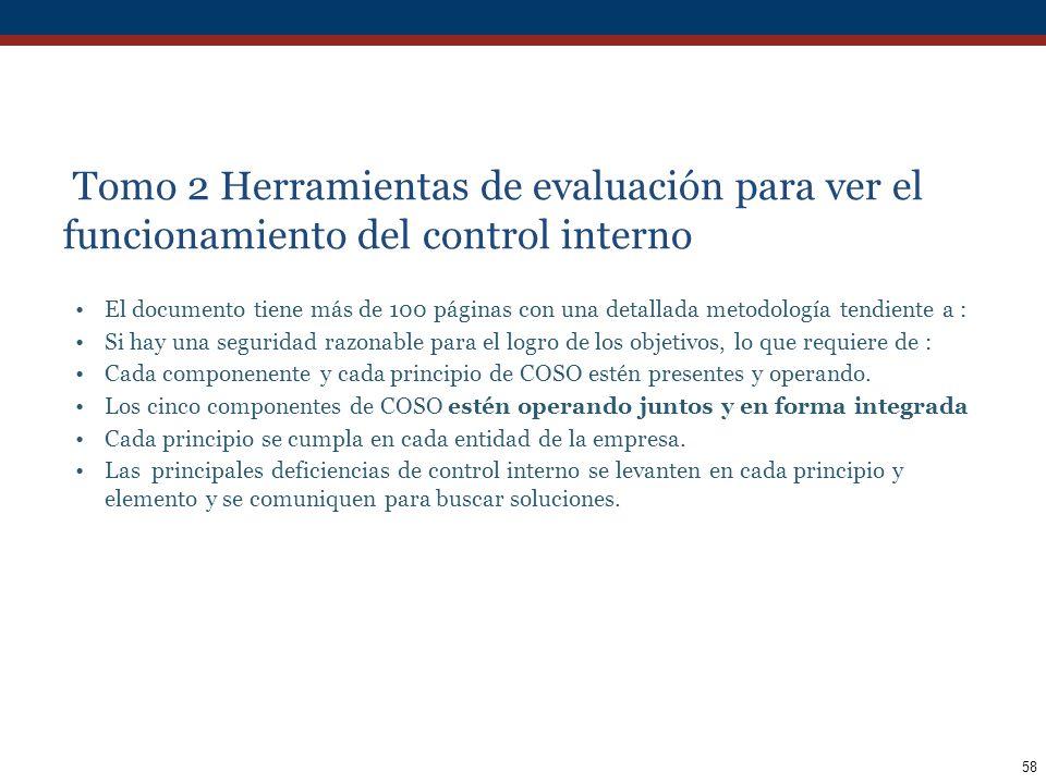 Tomo 2 Herramientas de evaluación para ver el funcionamiento del control interno