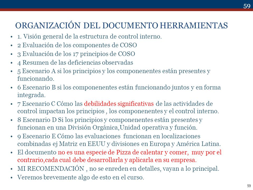 ORGANIZACIÓN DEL DOCUMENTO HERRAMIENTAS
