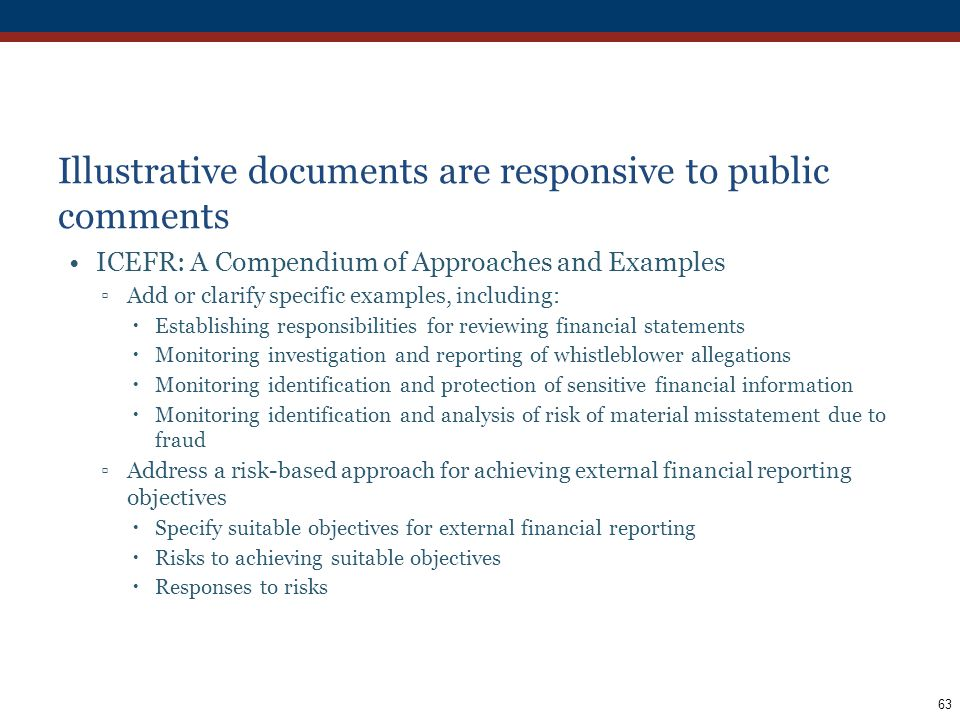 Illustrative documents are responsive to public comments