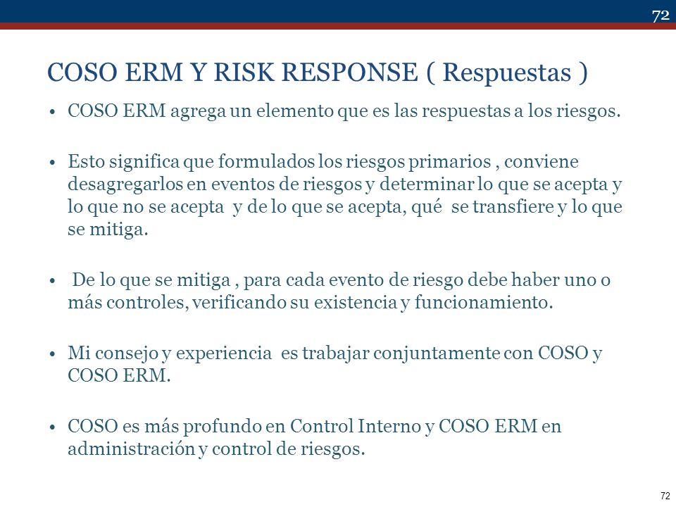 COSO ERM Y RISK RESPONSE ( Respuestas )
