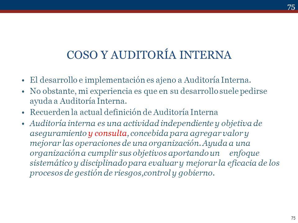 COSO Y AUDITORÍA INTERNA